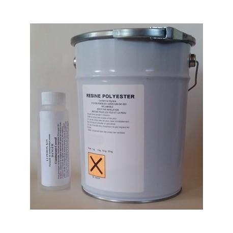 Résine polyester insaturée modifiée DCPD. Thixotrope, pré-accélérée, contient moins de 39% de styrène.