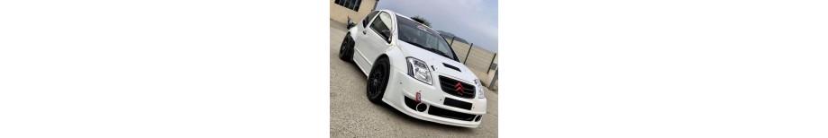 Pièces de carrosserie polyester fibre ou carbone pour Citroën rallye